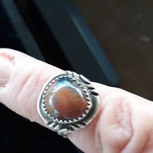 Jewelry - Agate SS ring size 5 3/4 to 6